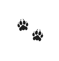Panther paw print vector