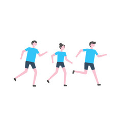 people running marathon athletes isolated vector image