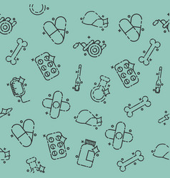 Pharmacy concept icons pattern vector