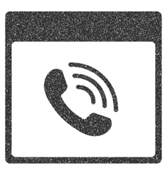 Phone Call Calendar Page Grainy Texture Icon vector