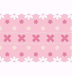 Pink pastel flower seamless pattern vector