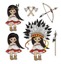 Pocahontas holiday indian princess vector