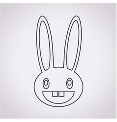 Rabbit image icon vector