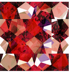 Red color mosaic seamless pattern vector