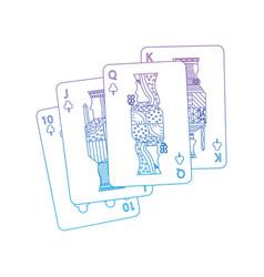royal flush playing club cards poker casino vector image