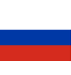 Russia flag isolate banner print flat vector
