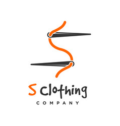 s clothing logo design template vector image