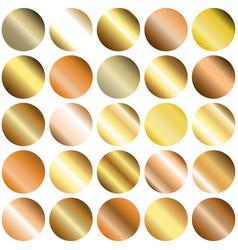 set circle gradient backgrounds vector image