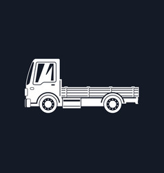 Silhouette mini lorry without load isolated vector
