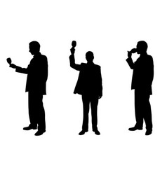 silhouettes of people toasting vector image