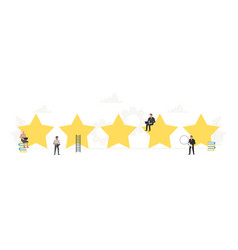 Small working people around big stars rating vector