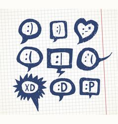 smiles set vector image