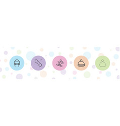 Snowboarding icons vector
