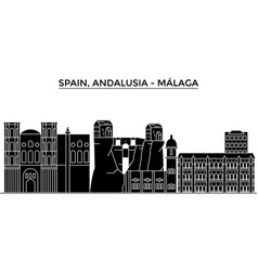 Spain malaga andalusia architecture city vector