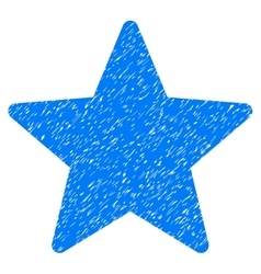 Star Grainy Texture Icon vector