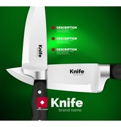 Swiss made knife ad template vector image