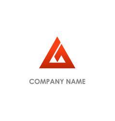 Triangle pyramid delta company logo vector