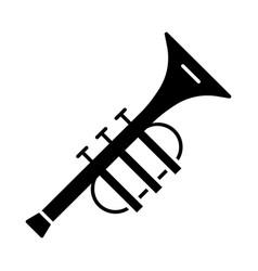 Trumpet glyph icon vector