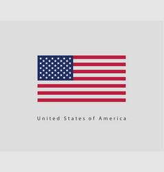 usa flag modern style united states america vector image