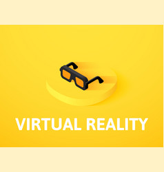 Virtual reality isometric icon isolated on color vector