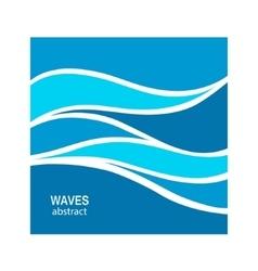 Water wave logo abstract design vector