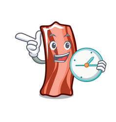 With clock ribs character cartoon style vector