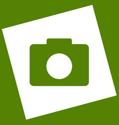 digital camera sign white icon obtained vector image vector image