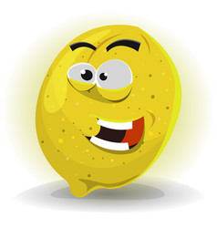 lemon fruit character vector image vector image