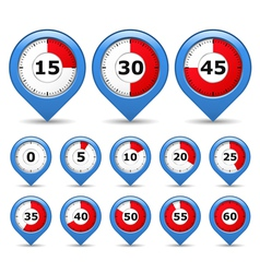 Pointers with timers vector image vector image