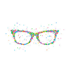 sunglasses icon abstract vector image