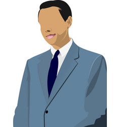 Businessman stands and speaking with someone over vector