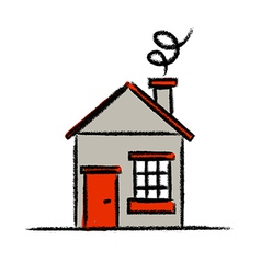 Colored house sketch vector image