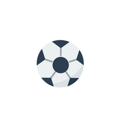 flat football element of flat vector image