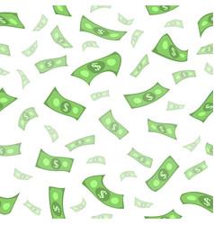 flat rain of dollars seamless pattern vector image