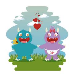 funny dragon cartoon vector image
