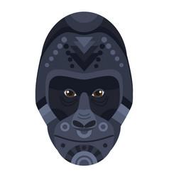 gorilla head logo decorative emblem vector image