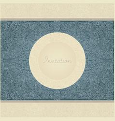 paisley invitation card vector image vector image