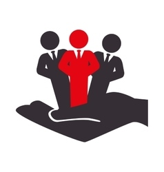 people silhouette teamwork icon vector image