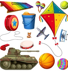 Set of different colorful toys vector image vector image