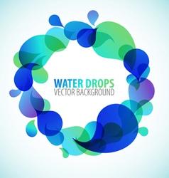 Water drops vector