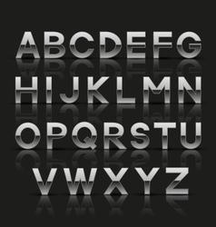 Decorative silver alphabet vector image vector image