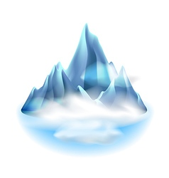 Mountains icon isolated on white vector image vector image
