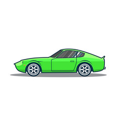 old japan sport car vector image