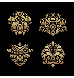 Royal background elements vector
