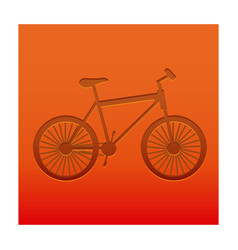 color background with carved bike vector image vector image