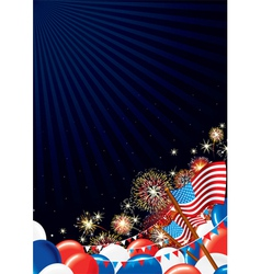 Independence Day Design background vector image