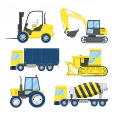 Industrial Construction Transportation with Truck vector image vector image