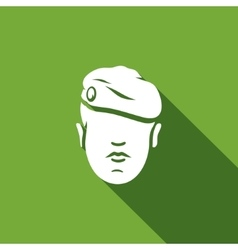 Maroon Military Beret of Army Special Forces icon vector image