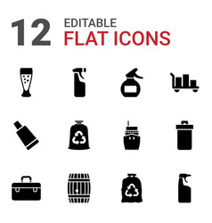 12 container icons vector