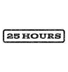 25 hours watermark stamp vector